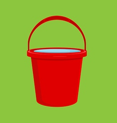Red bucket icon vector