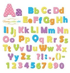 Polka dot font vector image
