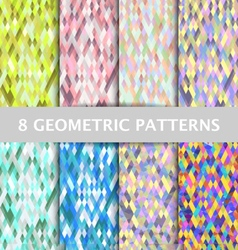 Abstract geometric polygon patterns set background vector