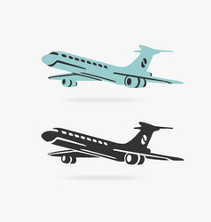 airplane sign vector image vector image