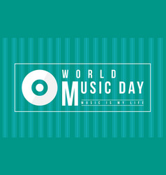 Background of world music day celebration vector