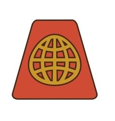 Cartoon red passport identification tourist vector