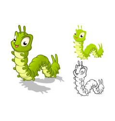 Caterpillar Cartoon Character vector image vector image