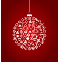 Christmas bauble design vector image