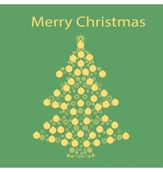 Christmas tree ball card background vector image
