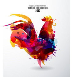 Colorful chinese new year rooster for 2017 vector