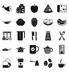 Culinary icons set simple style vector