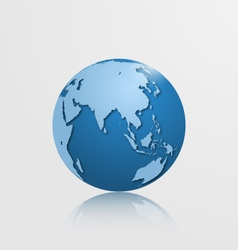 Detailed globe with asia and australia vector