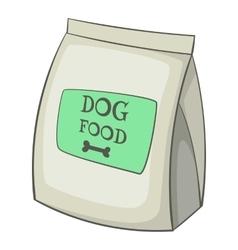 Dog food bag icon cartoon style vector