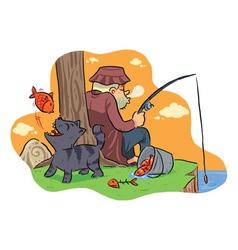 Fishing On The Lake vector image vector image