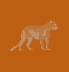 Flat shading style icon panther vector