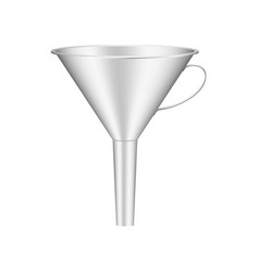 Funnel in silver design vector