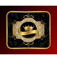golden label for packing vector image