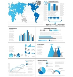INFOGRAPHIC DEMOGRAPHICS 6 BLUE vector image vector image
