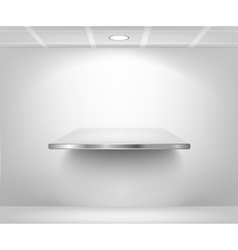isolated Empty shelf for exhibit vector image