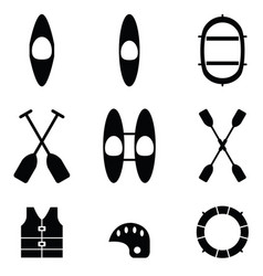 Kayak icons vector