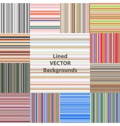 lined patterns set vector image