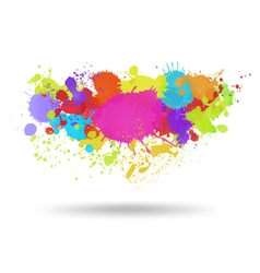 Multi color blots background vector image vector image