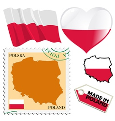 national colours of Poland vector image