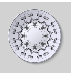 Plate with ornament vector image vector image