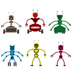 Set of angry robots vector image vector image