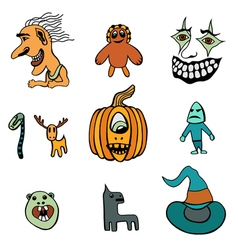 Set of halloween vector
