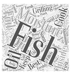 Sf cooking your caught fish to perfection word vector