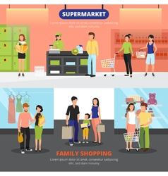 Shopping People Banners Set vector image vector image