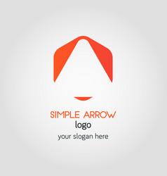 simple business logo template in orange hexagon vector image vector image