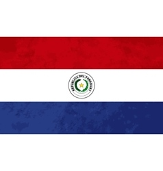 True proportions Paraguay flag with texture vector image vector image