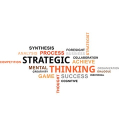 Word cloud strategic thinking vector