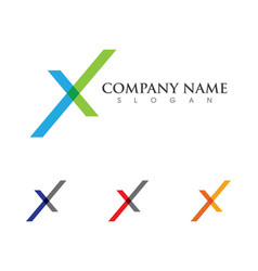X letter logo template icon design vector