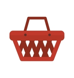 Basket shopping object vector