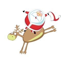 Santas rodeo vector image