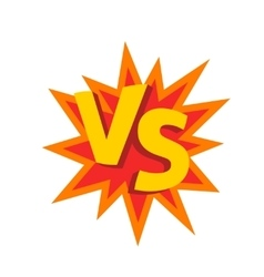Versus letters or vs logo emblem on vector image