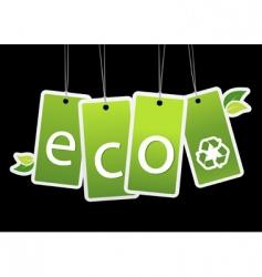 eco green tags vector image