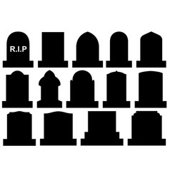 different halloween gravestones vector image