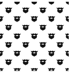 beard and mustache pattern vector image