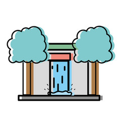 Water tank to reserve and ecology care with trees vector