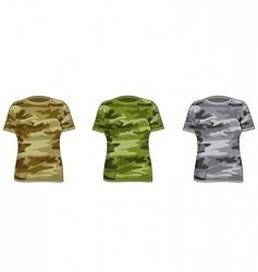 Women military shirts vector
