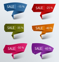 Paper colored folded pointer sale discount vector
