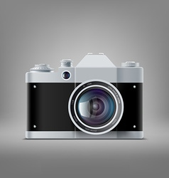 Old film camera vector