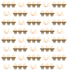 Egg pattern background vector