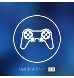 Joystick icon rounded squares button console vector
