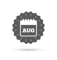 Calendar sign icon august month symbol vector