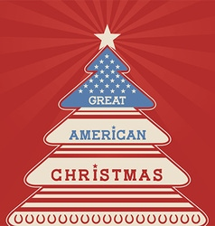 American christmas tree poster vector