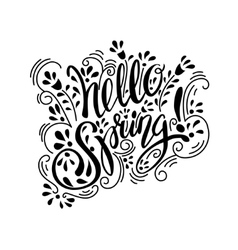 Spring art text vector