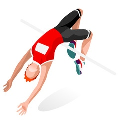 Athletics jump 2016 sports isometric 3d vector