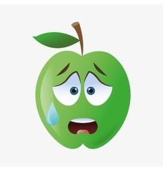Apple shape cartoon vector