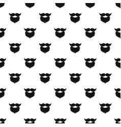 Beard and mustache pattern vector